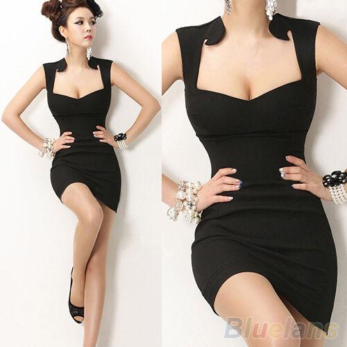 Women New Sexy Sleeveless Slim Fashion Bodycon Party Cocktail Evening Club Dress