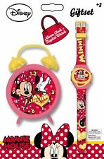 Disney Minnie Mouse Alarm Clock & Wrist Watch Set