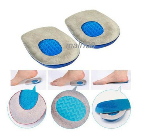 Gel Heel Pad Silicone Insole Heel Insert Support Insole Heel Foot Feet Shoes L/&M