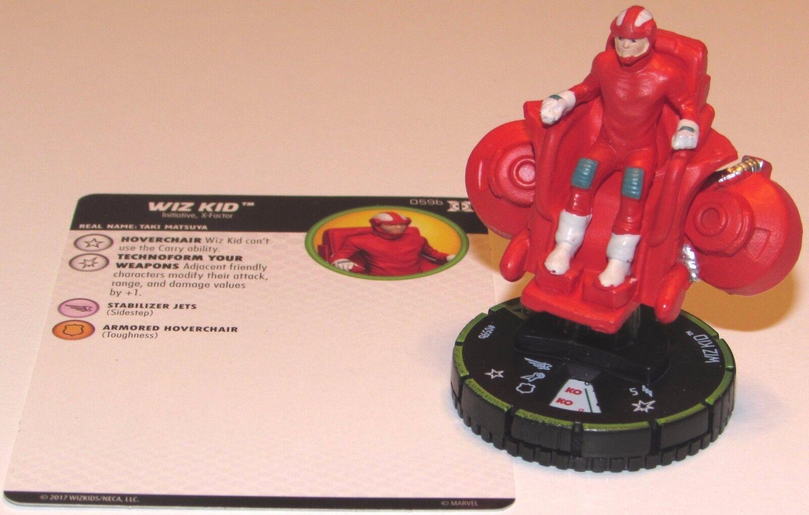 WIZ KID 059B PRIME Deadpool and X-Force Marvel HeroClix Super Rare
