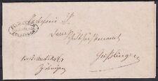 Württemberg Dienst Ellwangen Brief mit Postablage Zöbingen St. - Geißlingen 1876
