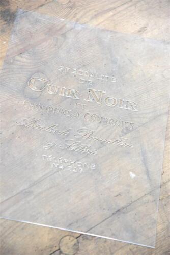 """Jeanne d/'Arc Living Schablone Stencil /""""Cuir Noir/"""" Shabby Chic Deko wiederverwend"""