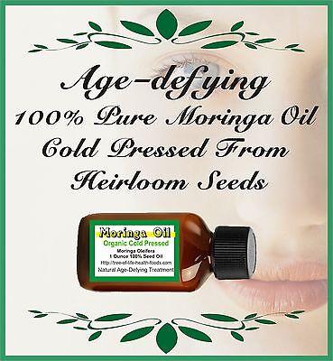 Moringa Seed Oil 4 oz Cold Pressed Organic Oleifera - FREE USA SHIPPING