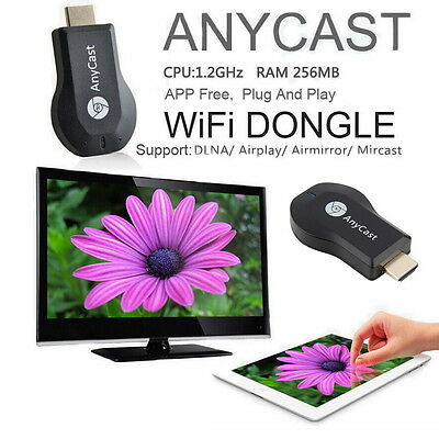 Cool HD 1080P AnyCast M2 Plus Wifi Display Dongle Receiver DLNA Easy Sharing UF#