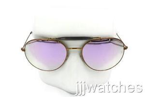 9ed54f520e New Ray-Ban Double Bridge Flash Lilac Lens Sunglasses RB3540 198 7X ...