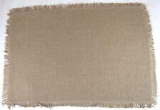 Burlap Natural Cotton Fringed Placemats Set of 2 12x18