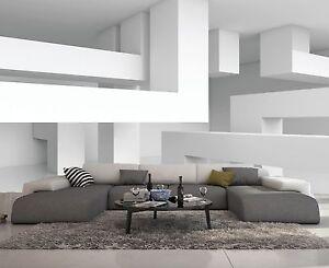 Carta Da Parati In 3d.Carta Da Parati 3d Effeto Bianco Poutre Foto Murale Design Moderno