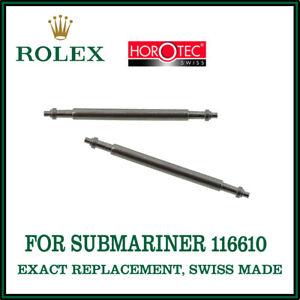 Rolex-esatta-di-ricambio-20mm-FLANGIA-singola-barre-a-molla-per-Submariner-116610