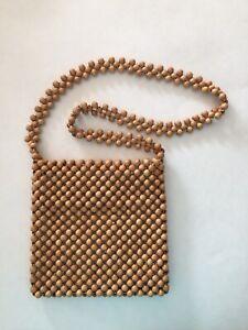 Walborge-International-Design-Vintage-Macrame-Bead-Crossbody-Purse-Zip-Top