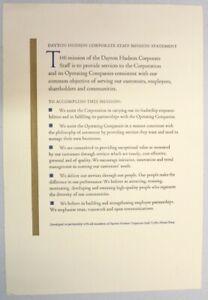Dayton Hudson Corporation Dayton Hudson Corporate Staff Mission Statement Ebay