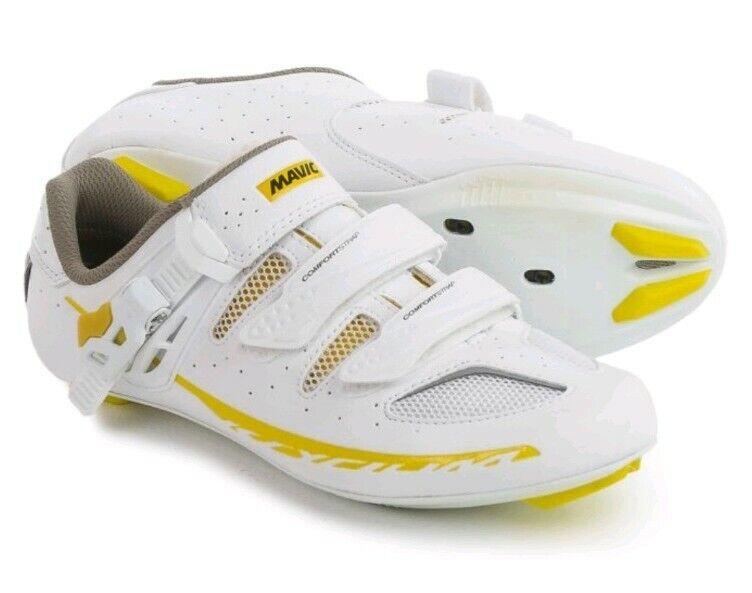 Mavic Ksyrium Elite W II. Road Cycling shoes. White Colza Yellow. Size US 7