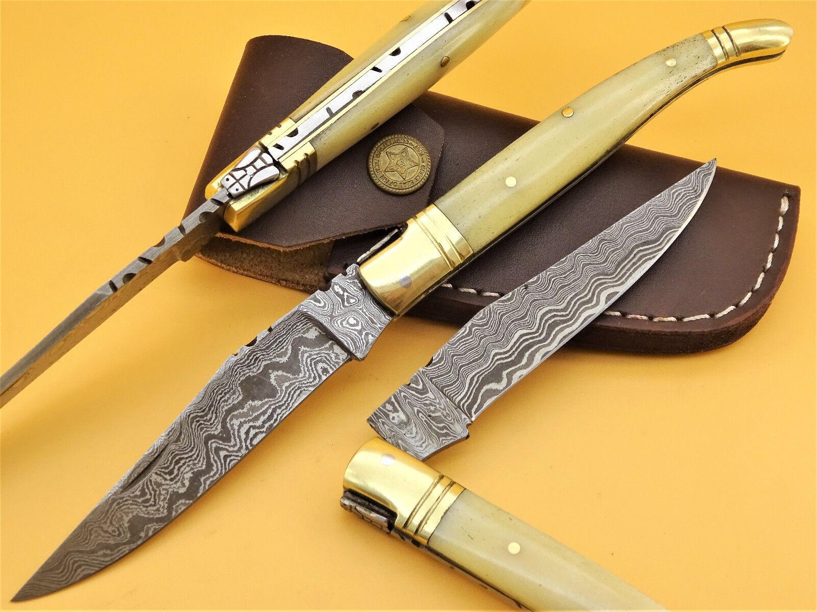 Damastmesser LAGUIOLE-Laguiole Taschenmesser-Damast taschenmesser - 22cm -(BD7)  | Niedrige Kosten