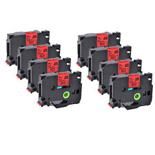 New Listing8pk Compatible With Brother Tz 441 Pt H500 Black On Red Label Tape 18mm 07