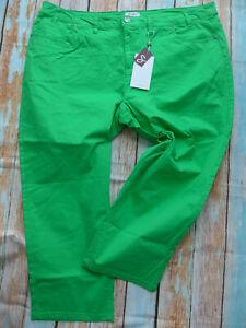 Sheego-Women-Pants-7-8-Capri-Pants-Size-40-to-58-Green-Tone-415-New