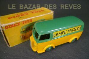 DINKY-TOYS-FRANCE-PEUGEOT-D3A-034-LAMPE-MAZDA-034-REF-25-B-Boite