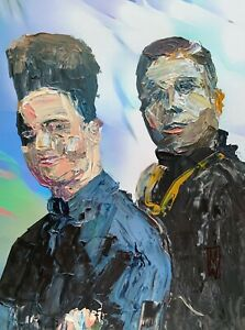 Original - Abstract Portrait Kid n' Play 90s Hiphop Rap Music Wall Art Painting