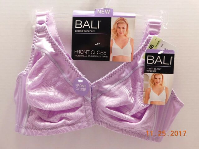 9b045fc86b4 Bali Front Close Double Support Wirefree Bra 38b Morning Orchid Style 1003