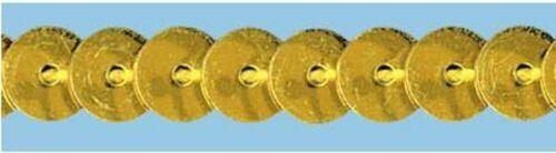 6mm Gold Sequins x 2 metres