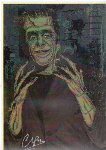 MUNSTERS - HERMAN MUNSTER Full Color Fine Art PRINT HAND SIGNED Michael Champion