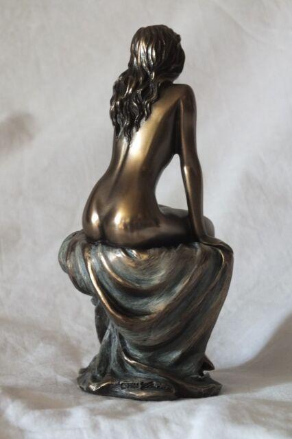 akt,figur,frau,13x7cm,aktfigur,skulptur,deko,bronziert,frauenakt,erotik,