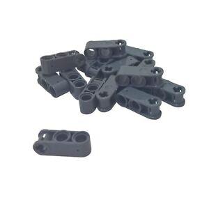 10 NEW LEGO Technic,Axle,Pin Connector Perpendicular Double Dark Bluish Gray