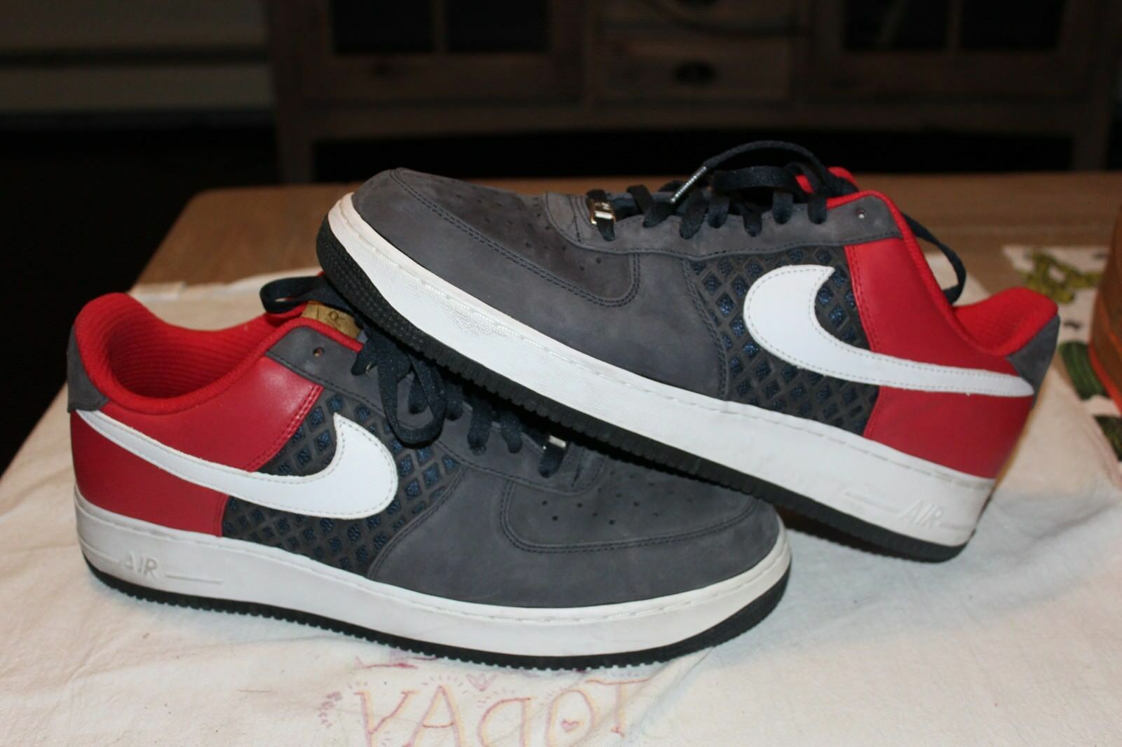 Nike Air Force 1 Low Navy Red White Birds Nest Brand discount