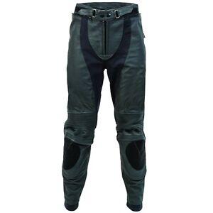 New-RICHA-Piranha-Motorcycle-Motorbike-Black-Trouser-Black-White-D3O-Knee-Armour