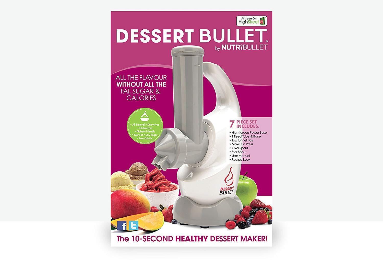 NutriBullet dessert Bullet, 350 W-Blanc avec livre de recettes neuf
