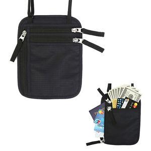 Travel-Card-Money-Document-Passport-Holder-RFID-Blocking-Neck-Hidden-Wallet-New