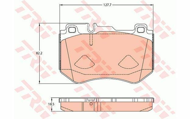 4x TRW Plaquettes de Frein Avant GDB2078 - Pièces Auto Mister Auto