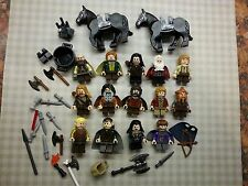 FASCIO di 15+ + Genuine LEGO Minifigures-LOTR/Hobbit/CAVALLI ecc.