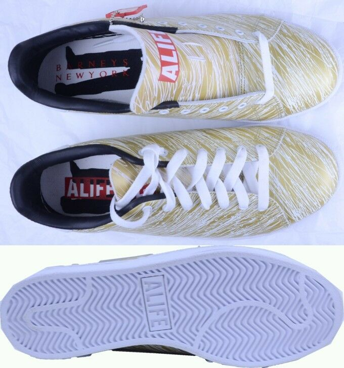 ALIFE Scribble Cup Barneys sz gold/Weiß Turnschuhe athletic schuhe sz Barneys 9.5 new adc0f1
