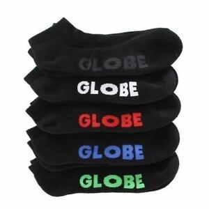 Globe-Socks-5-Pack-Stealth-Ankle-Black-Size-7-11-Skateboard-Sox-New