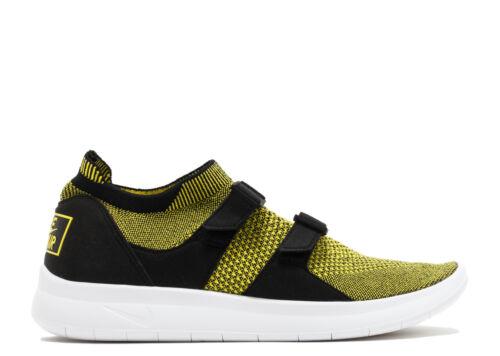 Black Nike Mens Flyknit Sock Racer Yellow Strike