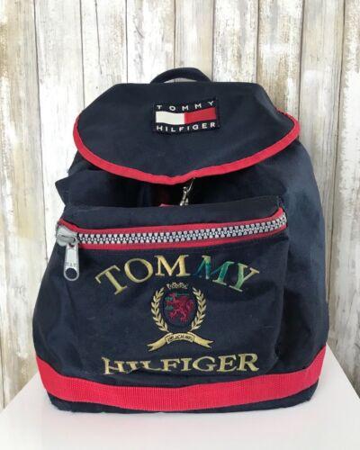 VINTAGE Tommy Hilfiger Backpack Nap Sack Book Bag