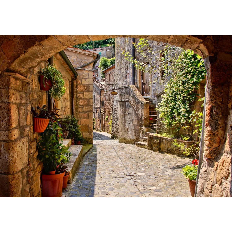 Fototapeten Tapete Fototapete Vlies Straße in Italien Deko XXL 3D Effekt Wohnung