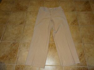 WOMENS-SIZE-12-TAN-STRIPED-COLDWATER-CREEK-PANTS-VERY-NICE