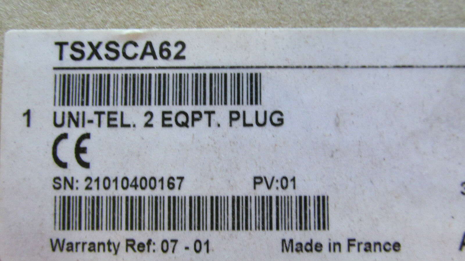 New in the BoxTelemecanique TSXSCA62 Uni-Tel 2QPT Plug Free Shipping