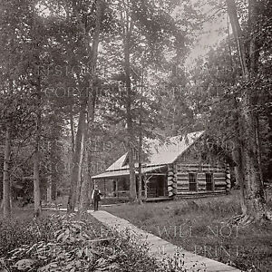 Details about Log cabin Lake Gogebic Michigan MI c 1889 photo 5x7 or  request 8x8 or 8x10 or CD