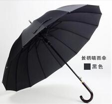 16K Strong Mens umbrella windproof Auto Open Rain Long handle business umbrella