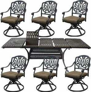 Cast-Aluminum-7-Piece-Outdoor-Patio-Dining-Set-Extendable-Table-48-x-132
