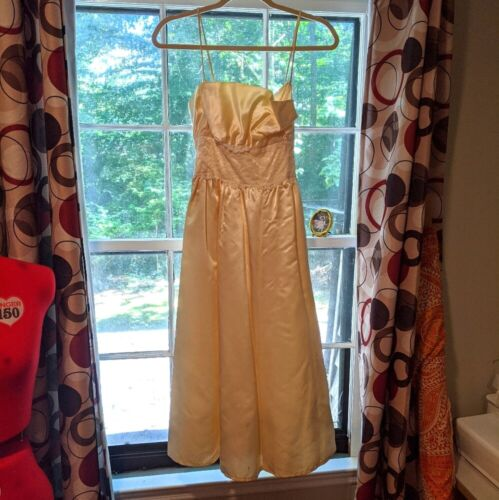 Gunne Sax Dress Ivory Satin Formal Dress S Lace - image 1