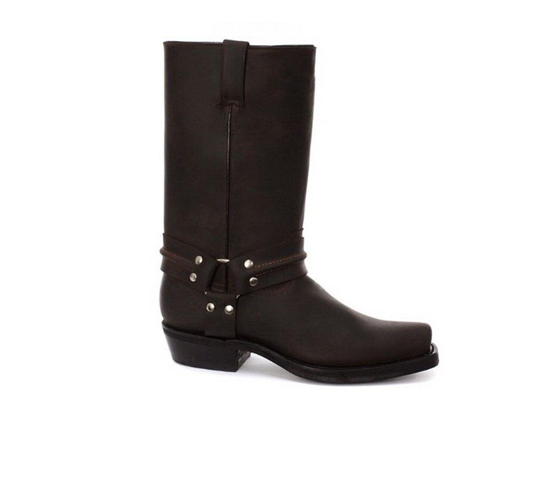 Men's Leather Boot Grinders Renegade Hi Brown Cowboy Western Slip On High Boots