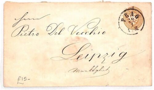 AR35 AUSTRIA Bohemia Prague to Lepizig Cover Postal Stationery {samwellscovers}