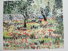 "FLOWERS IN PUGLIA, ITALY/ ORIGIAL WATERCOLOR/ 10""X14""/ MIMI DAVIS ARTIST"