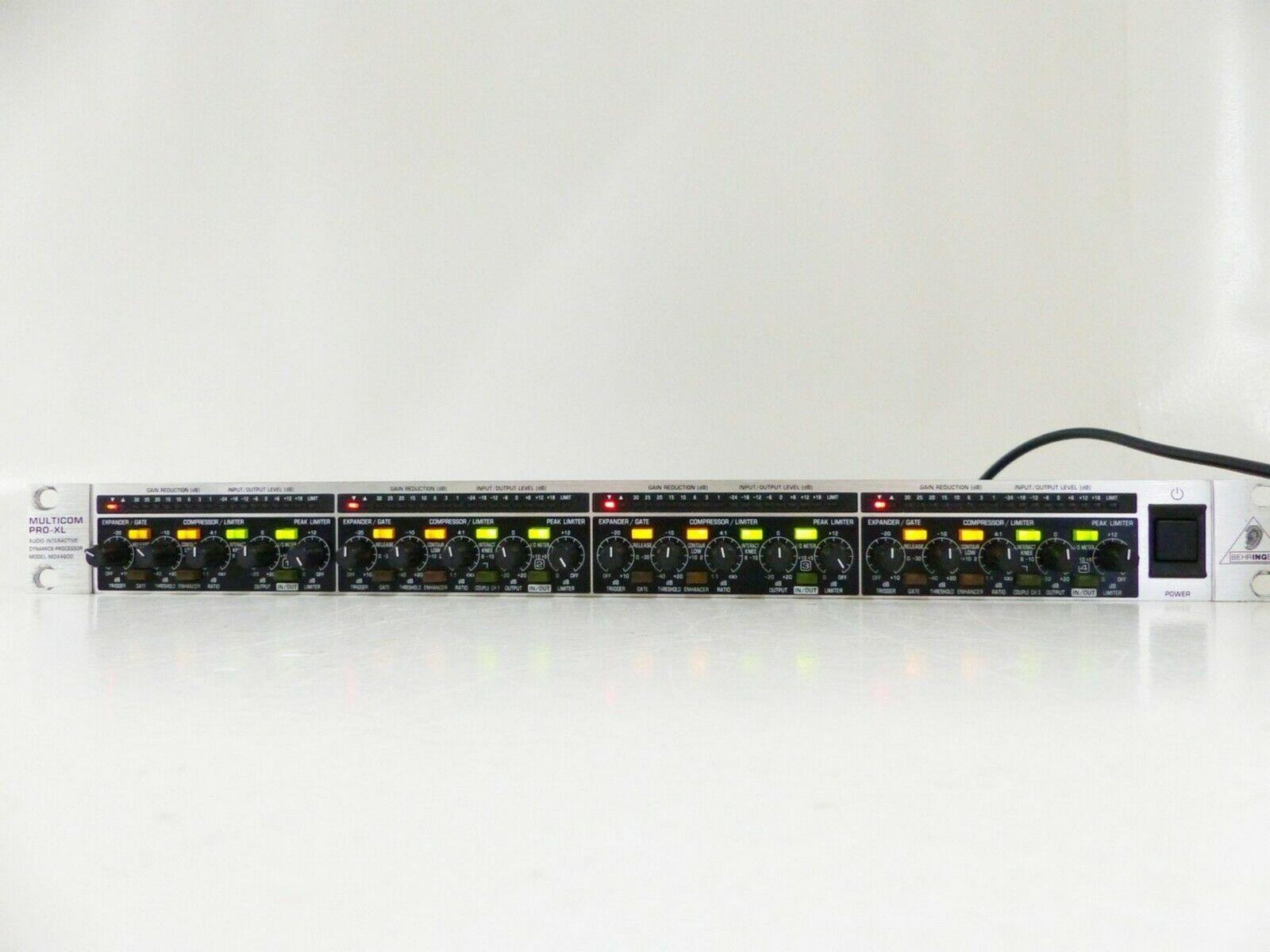 Behringer Multicom MDX 4600 pro XL Audio Interactive Dynamics Compressor I073