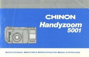 Chinon Handyzoom 5001 Instruction Manual multi-language