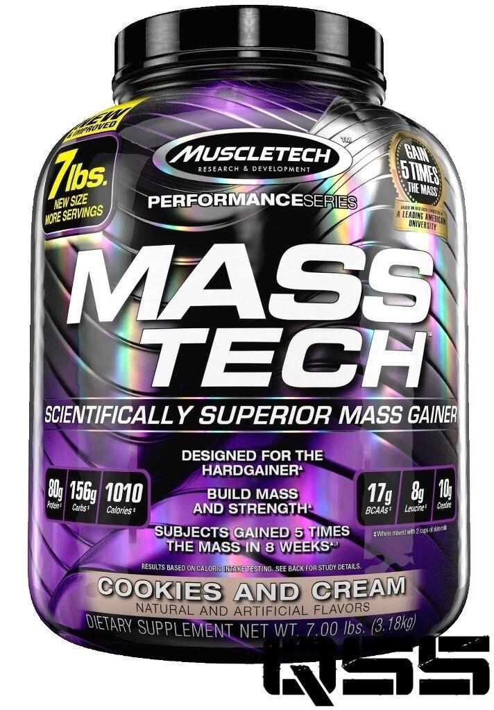 MUSCLETECH MASS TECH PERFORMANCE SERIES 3.2KG 7LB MUSCLE MASS WEIGHT GAINER
