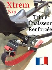2 Sangle Xtrem CROCHET CARRE Hoverkart Hovercart Hover Kart Cart Strap Scratch