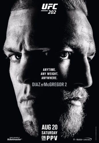 Y-106 CONOR McGREGOR VS NATE DIAZ UFC 202 MMA Promo 01 27x40 24x36 Hot Poster